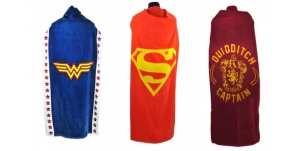 Superman, Wonder Woman, Harry Potter & Batman Cape Towels £12.99 @ Geek Core