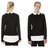 School Mock Shirt Layer Jumper From £7