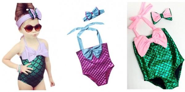 Mermaid Swimming Suit And Headband £6.99 (+£2.99 Del) @ Go Groopie