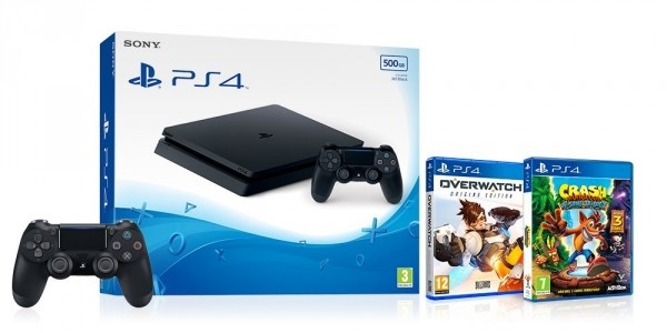 Sony PS4 Console + Overwatch + Crash Bandicoot N Sane Trilogy + 2nd Controller £179.99 @ Amazon (Expired)