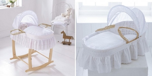 Clair de Lune Broderie Anglaise Palm Moses Basket £22.10 @ Tesco Direct (Expired)