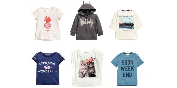 Up To 50% Off Kids Tops & Tees With Free Delivery Using Code @ H&M