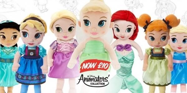 Disney Animator Soft Toy Dolls £10 (was £14.99) @ The Disney Store