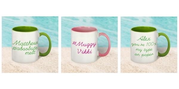 Personalised Love Island Style Mugs £8.99 @ Studio