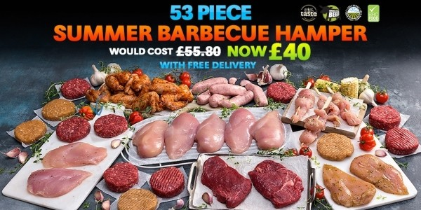 PlayPennies Exclusive: 53 Piece Summer Barbecue Hamper £40 Delivered (With Code) @ Musclefood