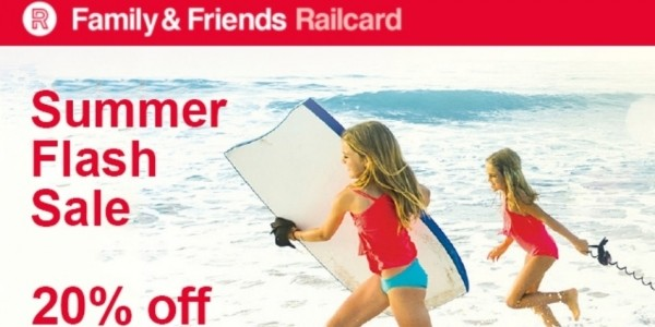 Flash Sale: 20% Off Family & Friends Railcard (Using Code) @ National Railcard