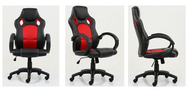 Astro Racing Style Gaming Office Chair Black With Red £54.99 Delivered @ Tesco Direct