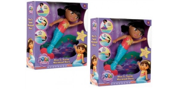 Dora the Explorer Dive & Swim Mermaid Doll £10 Delivered @ Amazon