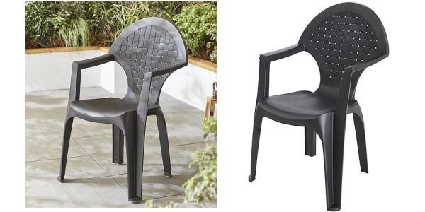 Dream Resin Dark Grey Garden Chair £7.50 @ Tesco Direct