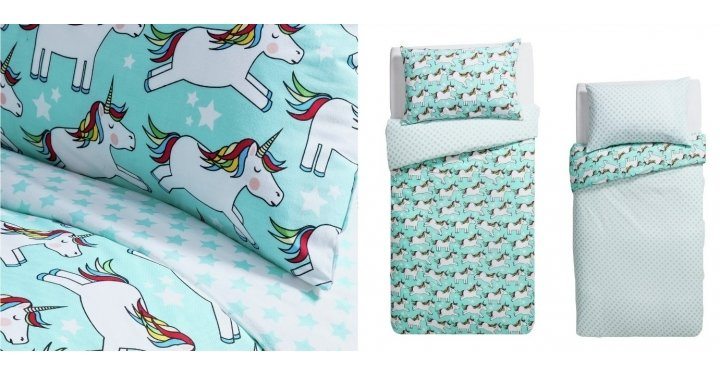 NEW Unicorn Kids Bedding From £8.99 Or 2 For £15 @ Argos