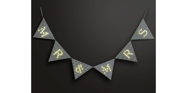 75% Off Up In Lights Mr & Mrs Light Up LED Bunting Now £4.99 (was £19.95) @ Temptation Gifts (Expired)