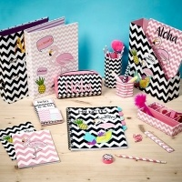 Flamingos And Pineapples Stationery £1