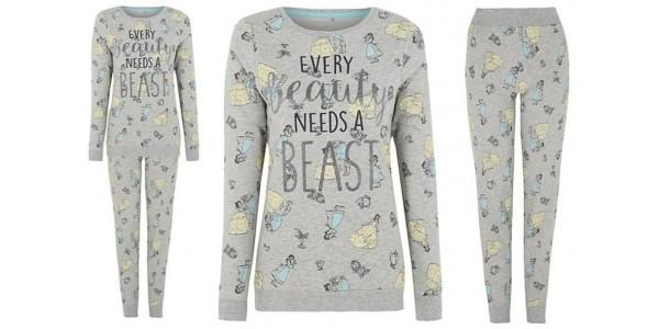 New Beauty And The Beast Women's Pyjamas £16 @ Asda George