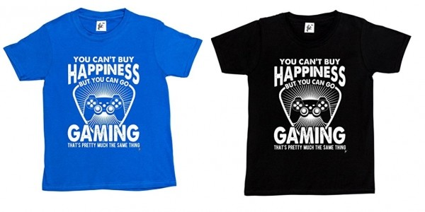 'You Can't Buy Happiness But You Can Go Gaming' T-shirt £3.99 With Free Delivery @ Amazon Seller Snuggle
