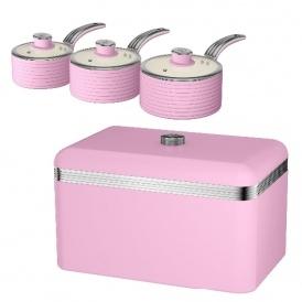 Swan Retro Pink Kitchenware Savings
