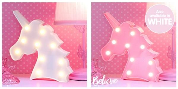 Pink or White Unicorn LED Light Just £3.99 @ Home Bargains