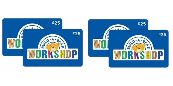 4 x Build-A-Bear £25 Gift Cards For Just £69.99 @ Costco