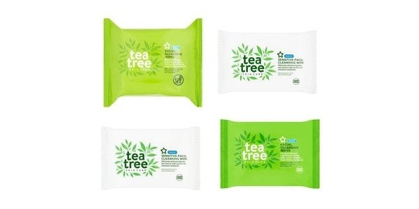 Get 2 Packs Of Tea Tree Cleansing Wipes For £1.59 Delivered (was £6.58) @ Superdrug