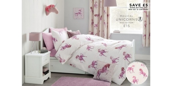 New Unicorn Kids Bedroom Collection @ Next