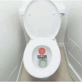 Red Target Toilet Training Sticker £1.38