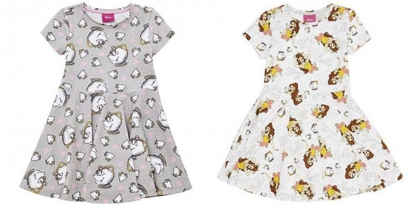 Disney Beauty and The Beast Chip & Mrs. Potts or Belle Jersey Dress From £8 @ Tesco Direct