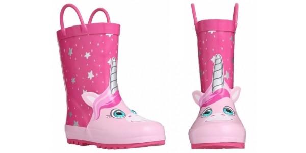 Kids Unicorn Faux Fur Lined Wellies £9 @ Tesco Direct