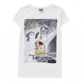 Beauty And The Beast Kids Sequin T-Shirt £4