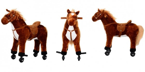 Homcom Kids Plush Ride On Walking Horse Toy With Wheels £48.98 Delivered @ Tesco Direct (Expired)