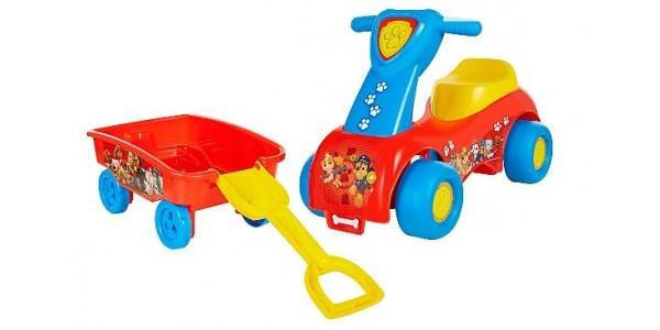 Paw Patrol Push 'n' Scoot & Shovel Wagon Combo Set £20 @ Asda George