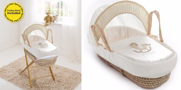 Little Rocker Moses Basket With Stand £34 @ Asda George