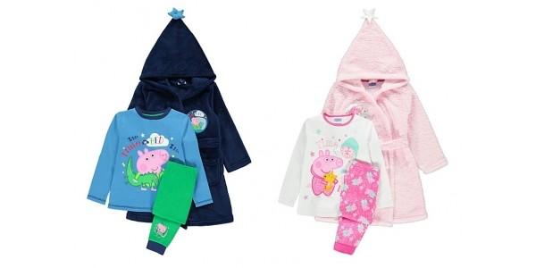 Peppa Pig or George Pig Dressing Gown & Pyjama Sets From £14 @ Asda George