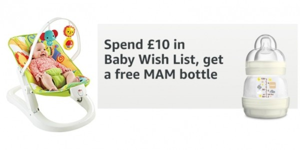 FREE MAM Bottle When You Spend £10 On Baby Wishlist (Prime Members Only) @ Amazon