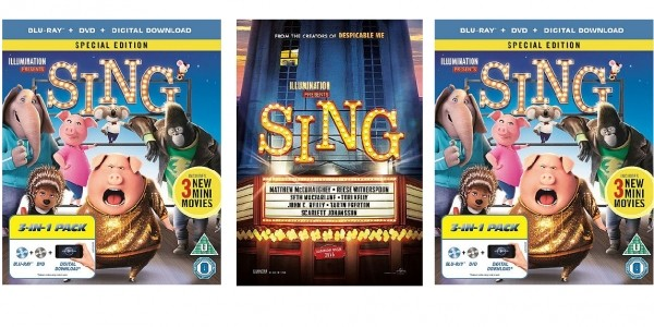 Sing (Blu-ray, DVD And Digital Copy - Triple Play) £6.75 Delivered (With Code) @ Zoom