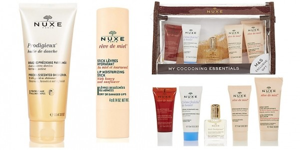 NUXE Prodigieux Shower Oil 100ml, Lip Moisturising Stick & FREE Gift (Worth £33) £11.50 @ Marks And Spencer