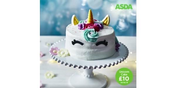 NEW Unicorn Celebration Cake £10 @ Asda