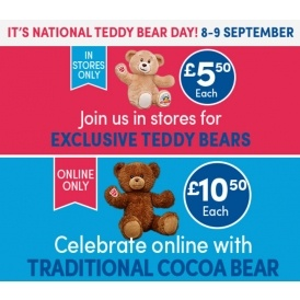 bears from for national teddy bear day build a bear. Black Bedroom Furniture Sets. Home Design Ideas
