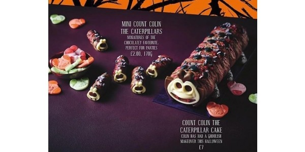 Colin the Caterpillar Has Had A Spooky Halloween Makeover!