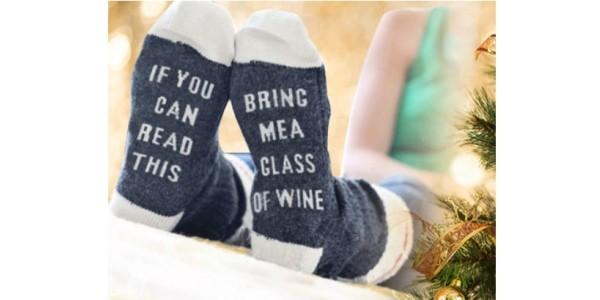Bring Me Wine Socks £2.99 @ Wowcher