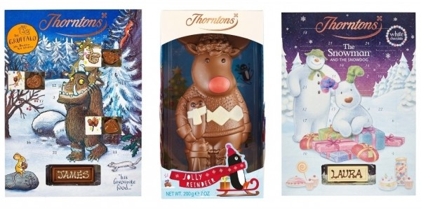 5 For £20 Chocolate Gifts Including Personalised Advent Calendars @ Thorntons