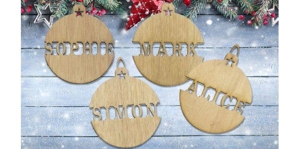 Personalised Christmas Ornaments (Pack Of Two) £1.99 @ Wowcher
