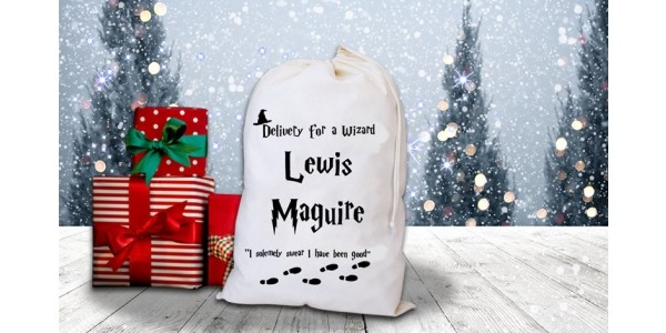 Personalised Harry Potter Inspired Christmas Sack £7.99 @ Wowcher