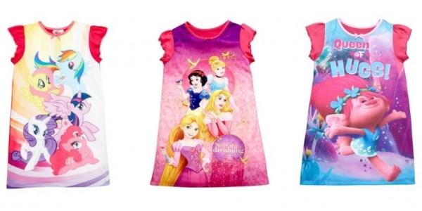Disney Princess / My Little Pony Nightie From £6 @ Very