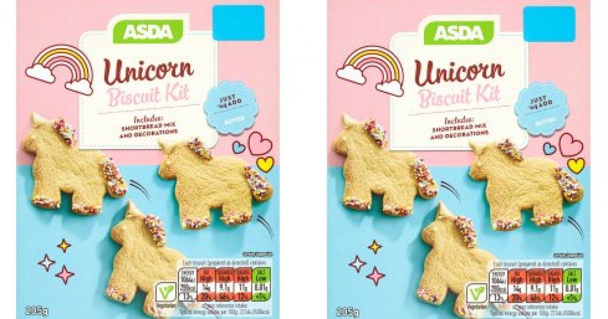 Unicorn shortbread biscuit kit 165 asda solutioingenieria Choice Image