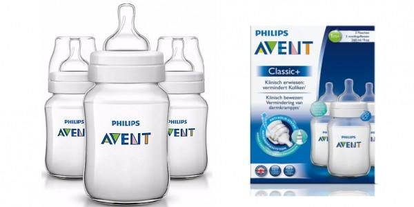 Philips Avent Classic+ Feeding Bottles (3 Pack) £6.98 @ Amazon
