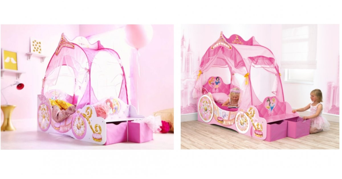 Disney Princess Carriage Toddler Bed With Storage GBP16999 Delivered Price Right Home