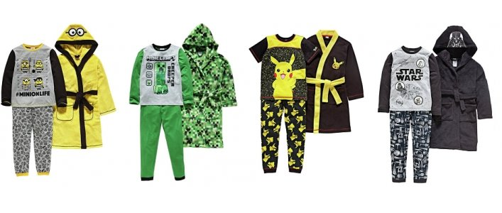 Save 1/3 On Character Dressing Gown & Pyjama Sets @ Argos