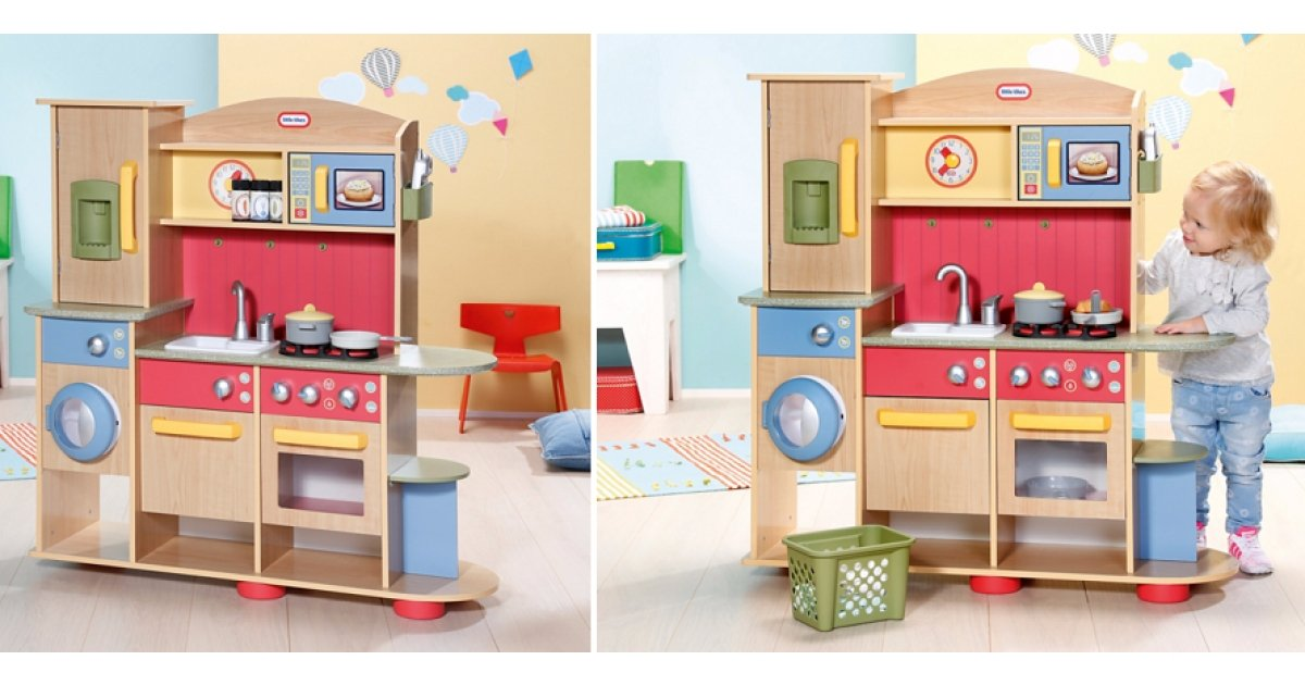 little tikes cookin 39 creations premium wooden kitchen 88. Black Bedroom Furniture Sets. Home Design Ideas