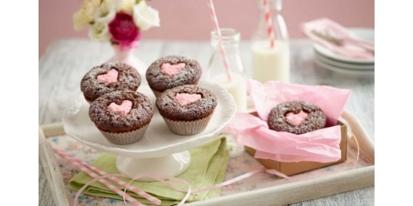 Free Heart Chocolate Cupcakes Recipe @ Tesco Recipes