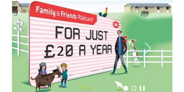 One Year Family & Friends Railcard £20 (With Code) @ National Rail