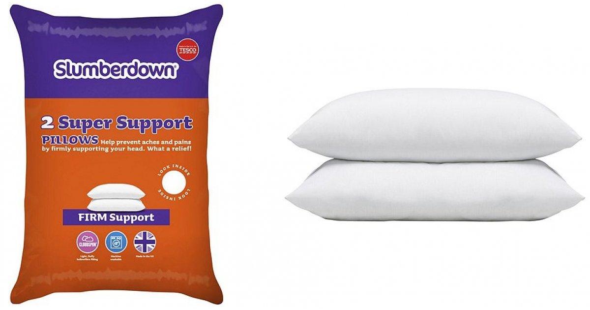 Slumberdown Super Support Pillows 163 6 Tesco Direct